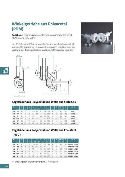 Winkelgetriebe aus polyacetal pom und welle aus stahl c45 zipperle antriebstechnik gmbh - Welle mobel katalog ...